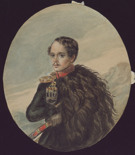 Дом музей М Ю Лермонтова Автопортрет М Ю Лермонтова 1837 1838 гг бумага акварель
